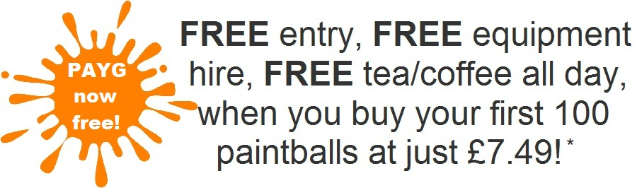 paintball special offer